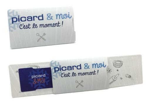 fourreau pour carte de fidélité format carte bancaire produit par pouchcard